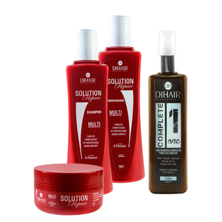 kit Solution Repair Multi Reconstrutor 300ml + Complete One 220ml - Dihair Professional