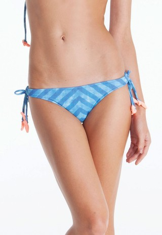 INDIGO STRIPES TIE SIDE BOTTOM