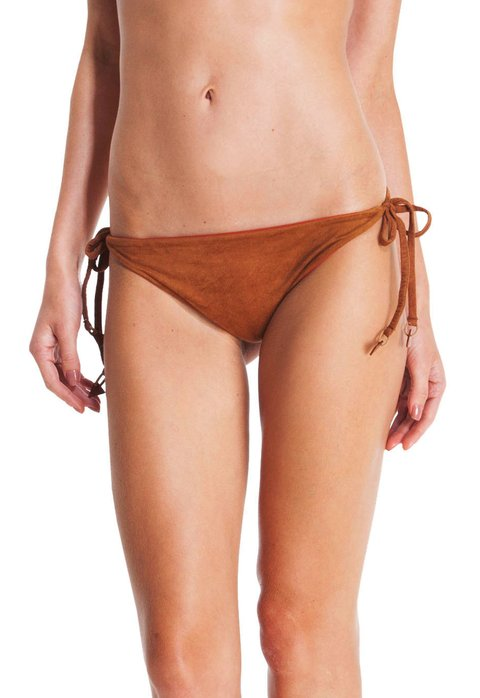 SOLID SUEDE LONG TIE SIDE BOTTOM