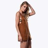 HANDMADE CARAMEL DUG DRESS - comprar online