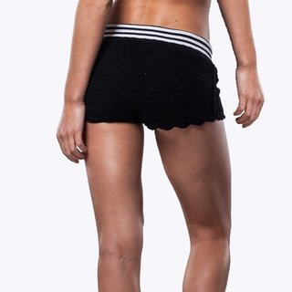 BLACK FIT CROCHET SHORTS - comprar online