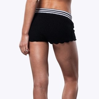 BLACK FIT CROCHET SHORTS na internet