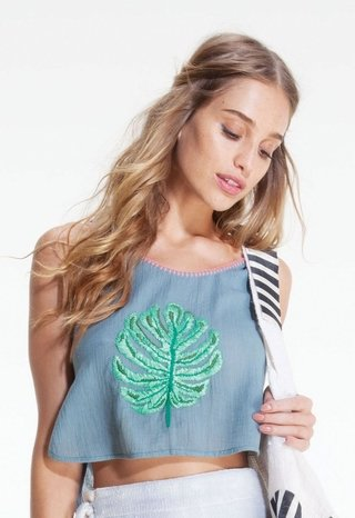 SINGLE LEAF CROP TOP