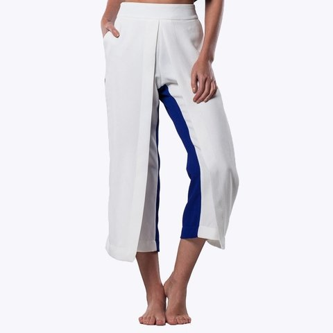 COLORBLOCK WRAP PANTS