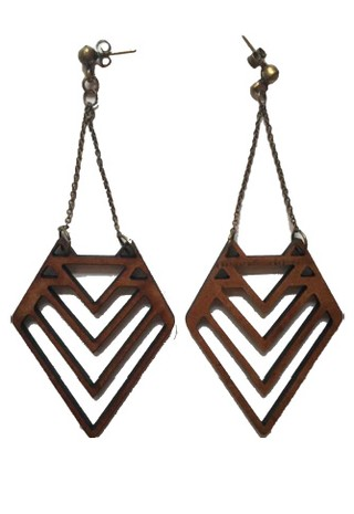 LASER WOOD EARRING