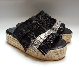 Sandalia Goldin Black