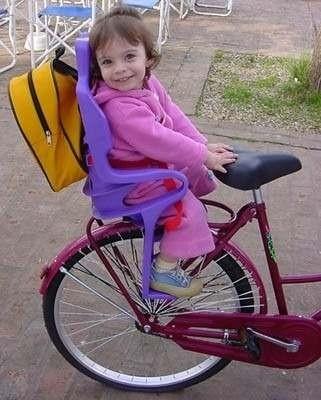 Silla para ni o bebe para bicicleta 4 cerebros for Silla nino bicicleta