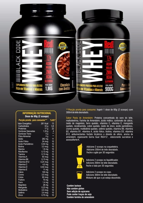 WHEY PROTEIN BLACK CODE RED SERIES 1,8KG