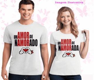 Kit de camiseta + chinelo dia dos namorados