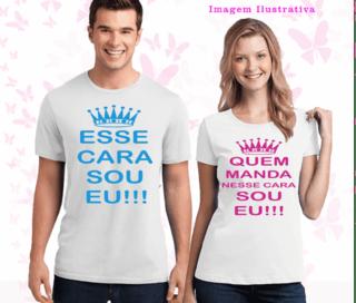 Kit de camiseta dia dos namorados