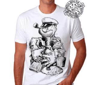 Camiseta Popeye Poker Branca