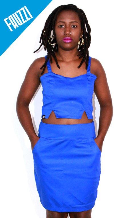 Conjunto Sarja azul