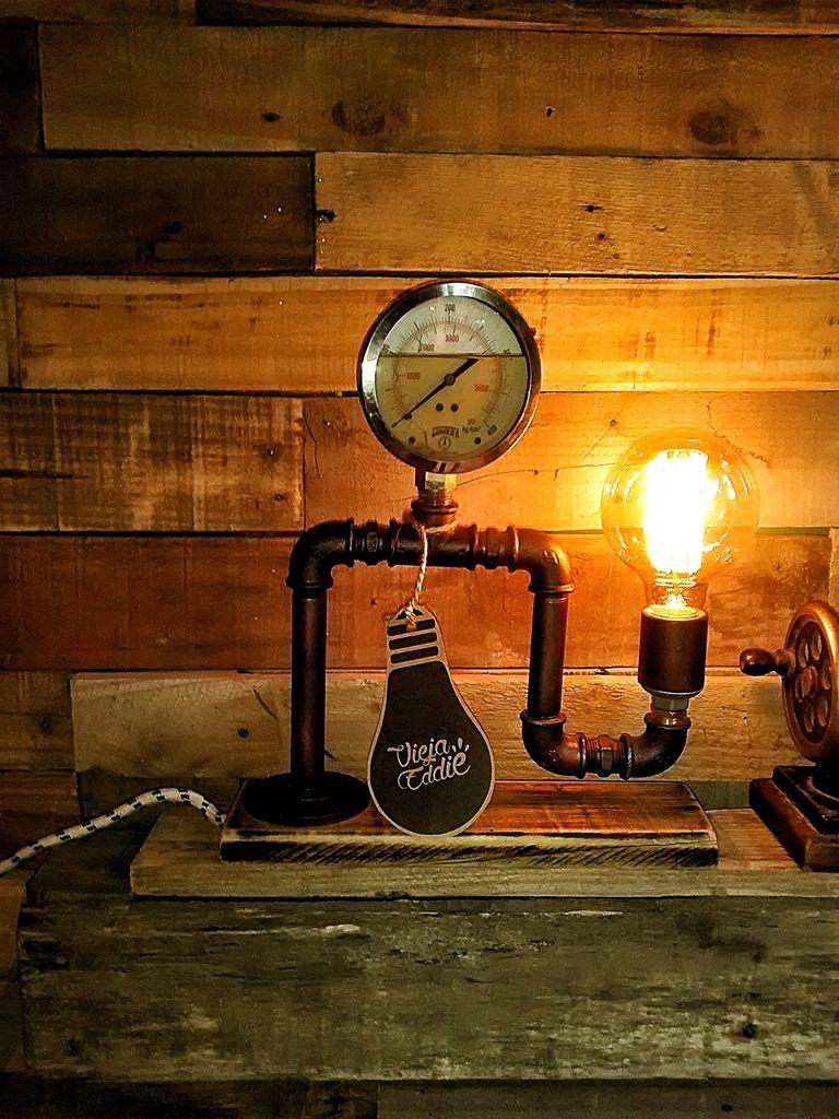 Lampara estilo industrial decoracion vieja eddie - Lamparas estilo vintage ...