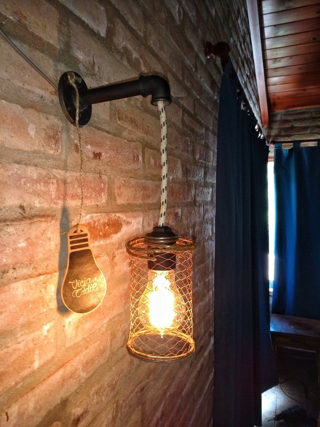 Lampara vintage aplique pared industrial - Lamparas de aplique para pared ...