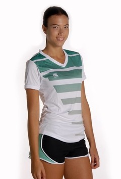 Camiseta dama degrade verde