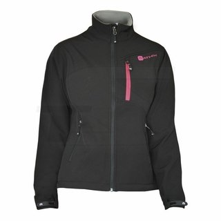 Campera SoftShell Athix Mujer W1321 Negro/Fucsia