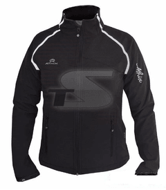 Campera Soft Shell Athix Negro/Lineas Refractarias