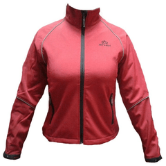 Campera Soft Shell Athix Mujer Rojo Lineas Refractarias
