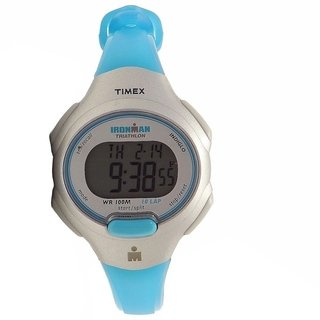 Timex Women's Ironman 5K739 Gris/Turquesa Digital Sport Watch