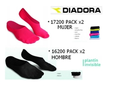 Media Invisible Diadora Plantin  Hombre Running