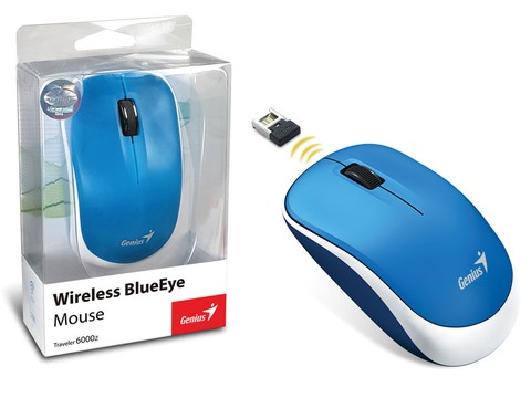 MOUSE WIRELESS GENIUS 31030031109 TRAVELER 6000Z BLUEEYE AZUL USB 1200DPI