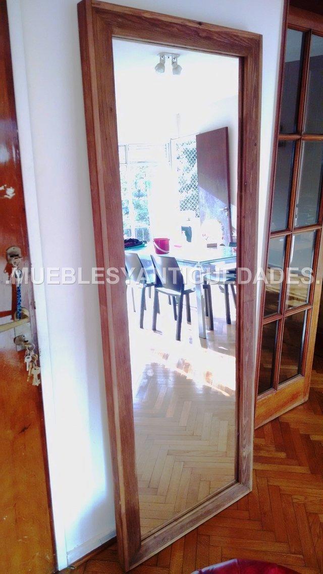 Espejo de pie con marco en pinotea lustre roble 1 90 x 0 for Espejos sin marco