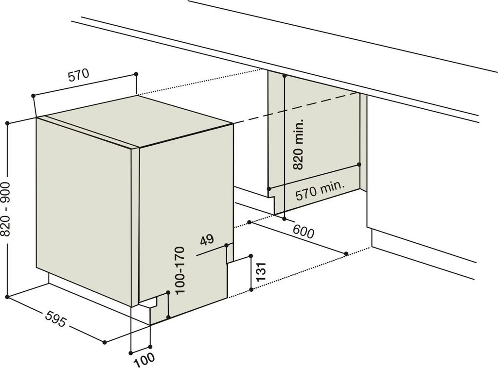 Ariston lavavajillas panelable integrable 15 cubiertos for Medidas de lavavajillas