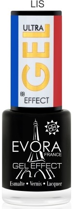EVORA FRANCE GEL EFFECT - LIS BLACK 7 ML