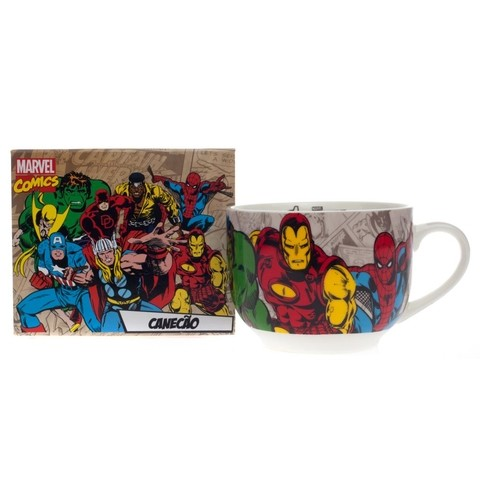 CANECÃO DE BONE CHINA 650ML MARVEL COMICS 10020569