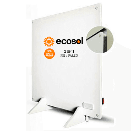 Panel Calefactor ECOSOL Quadrans PC500W  2 en 1 Pie o Pared