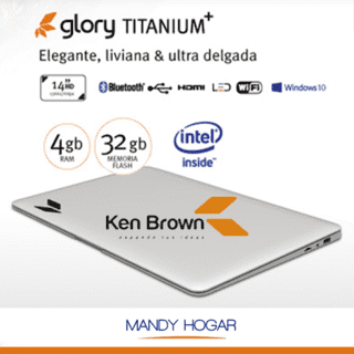 Notebook Ken Brown Glory Titatium 14¨ Intel 32gb 4gb Ram Win10 - comprar online
