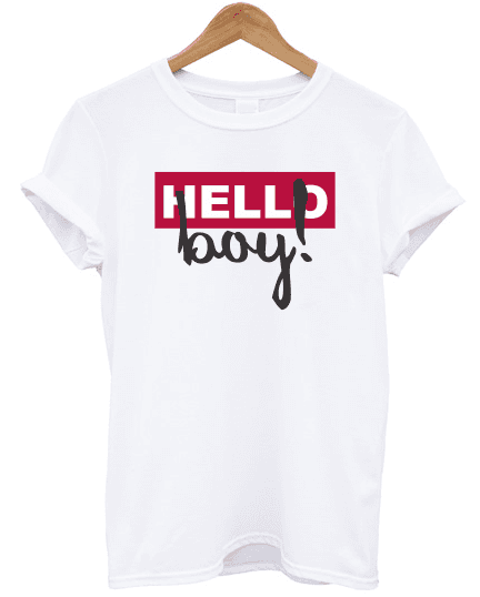Camiseta Hello Boy