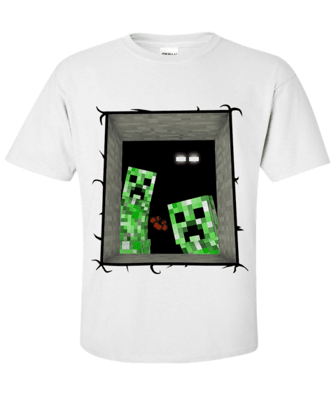 Camiseta Creeper e Enderman