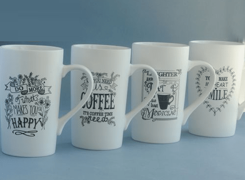 TAZA MUG PORCELANA COFFEE - LATTE