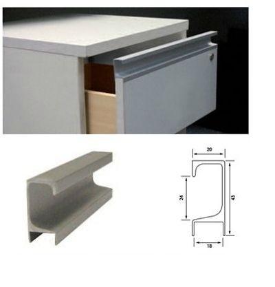 Perfil j comprar en maderas tabay s r l for Perfiles aluminio para muebles