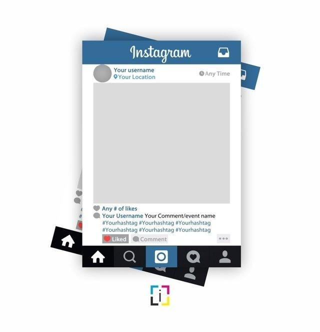 Frame Marco para fotos Instagram facebook Youtube