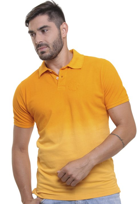 Polo Stone Wash Degradê Amarelo