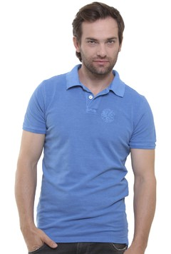 Polo Stone Wash Azul