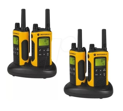 Kit 4 Radio Comunicador Motorola Talkabout T400 56km Walk Talk