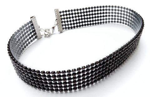 Choker shine bright like a diamond black - La Petite Fleur