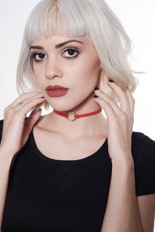 Choker mini Rutty rouge
