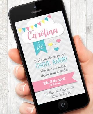 Convite Virtual Chuva De Amor