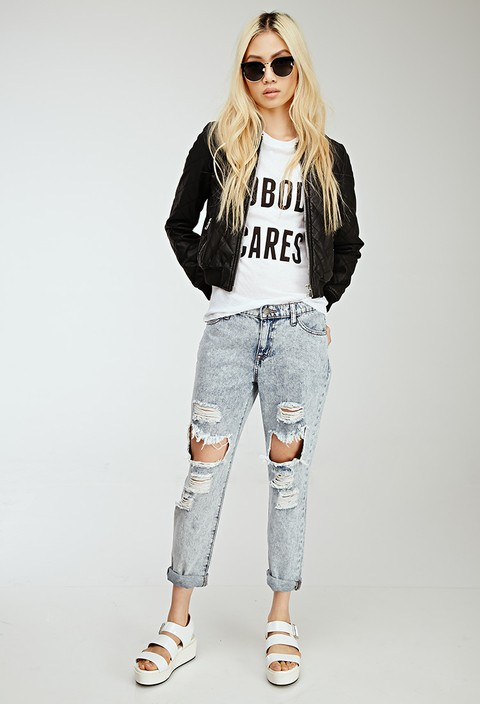 Jean destructed FOREVER 21
