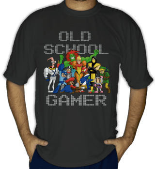 Camiseta Old School Gamer
