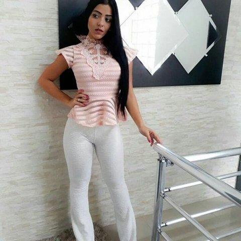 Blusa Canelada Choker - Comprar em Vestidos Multisul 39bc71f208a