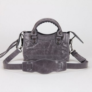 Bolsa Balenciaga Classic Mini City Grey na internet