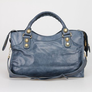 Bolsa Balenciaga Classic City Dark Blue/Gold na internet