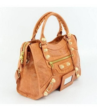 Bolsa Balenciaga Classic City Orange/Gold - loja online