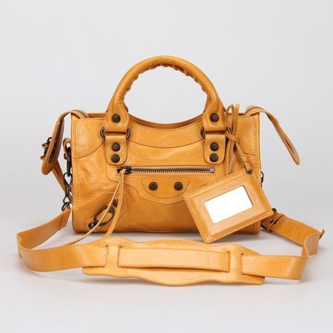 Bolsa Balenciaga Classic Mini City Orange - comprar online