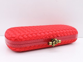Bolsa Bottega Veneta Clutch Rose Red - loja online